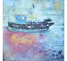 Fishing boat at low tide, Rye Harbour, Acrylics Photographic Print