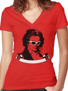 Cool Beethoven Women's Fitted V-Neck T-Shirt
