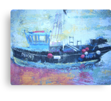 Detail of fishing boat, Rye Harbour Canvas Print