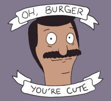 Oh Burger, You're Cute Kids Tee