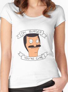 Oh Burger, You're Cute Women's Fitted Scoop T-Shirt