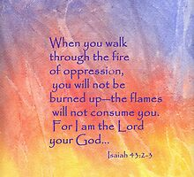 Fire- Isaiah 43:2-3 by Diane Hall
