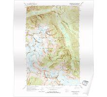 USGS Topo Map Washington State WA Forbidden Peak 241152 1963 24000 Poster