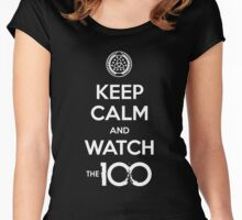 The 100 - Keep Calm And Watch Women's Fitted Scoop T-Shirt
