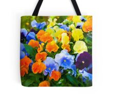 Painted Pansies Tote Bag