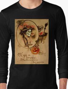 Happy Halloween (Vintage Halloween Card) Long Sleeve T-Shirt