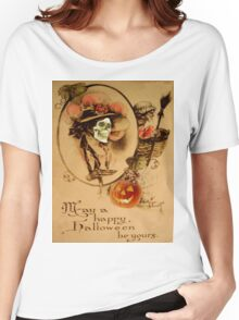 Happy Halloween (Vintage Halloween Card) Women's Relaxed Fit T-Shirt