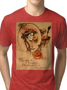 Happy Halloween (Vintage Halloween Card) Tri-blend T-Shirt