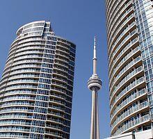 CN Tower - Toronto Ontario by Debbie Pinard