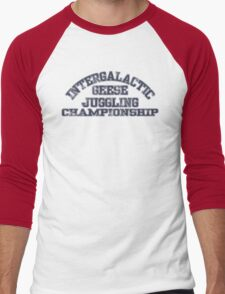 Intergalactic Geese Juggling Championship Men's Baseball ¾ T-Shirt
