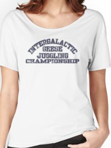 Intergalactic Geese Juggling Championship Women's Relaxed Fit T-Shirt