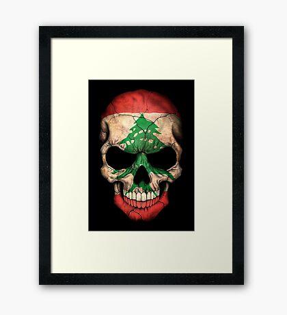 Lebanese Flag Skull Framed Print