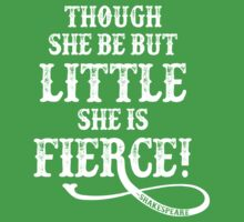 Shakespeare Quote Typography - Though She Be ... One Piece - Short Sleeve