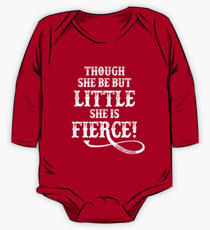 Shakespeare Quote Typography - Though She Be ... One Piece - Long Sleeve