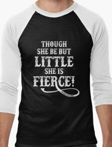 Shakespeare Quote Typography - Though She Be ... Men's Baseball ¾ T-Shirt