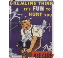 Gremlins Think It's Fun To Hurt You iPad Case/Skin