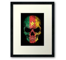Cameroon Flag Skull Framed Print