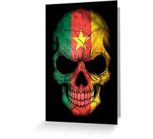 Cameroon Flag Skull Greeting Card