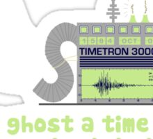 Time Traveling Ghost Sticker