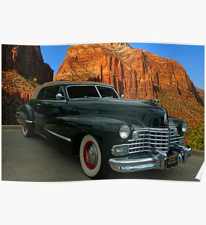 1942 Cadillac Series 62 Convertible Coupe Poster