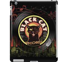 Black Cat LP Art Deco iPad Case/Skin