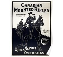 Canadian Mounted Rifles Poster
