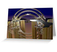 Ornate wind chimes Greeting Card