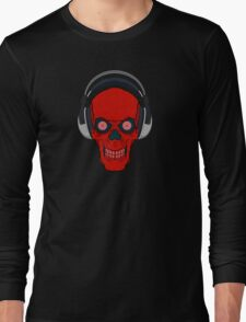 skull rock - red Long Sleeve T-Shirt