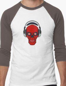 skull rock - red Men's Baseball ¾ T-Shirt
