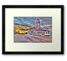 Sunset Depot - Graphic Novel Framed Print