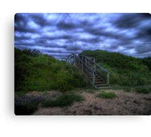 Beach Stairs Canvas Print