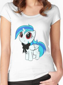 Filly Alicorn With a Black Tie Women's Fitted Scoop T-Shirt