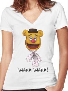 Waka Waka Women's Fitted V-Neck T-Shirt