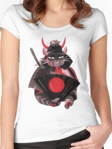 Samurai Cat Women's Fitted Scoop T-Shirt