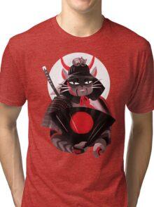 Samurai Cat Tri-blend T-Shirt
