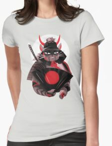 Samurai Cat Womens Fitted T-Shirt