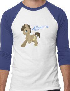 Doctor Whooves- Allons-y! Men's Baseball ¾ T-Shirt