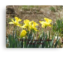 Challenge Winner - Think Spring Canvas Print