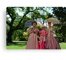 Colonial Ladies in the Garden Canvas Print