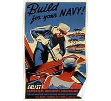 Build For Your Navy - Seabees Poster