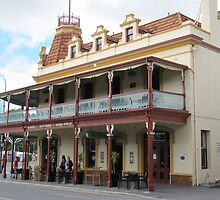 'Stag Hotel' circa late 1800's cnr.Rundle St. East Tce. Adelaide. by Rita Blom