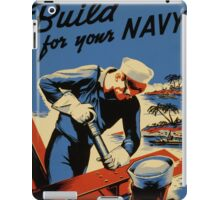 Build For Your Navy - Seabees iPad Case/Skin