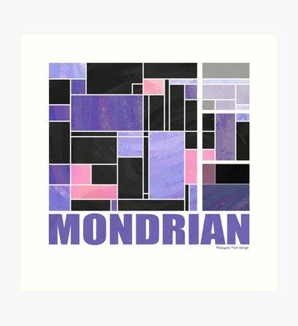 Mondrian Purple Pink Black  Art Print
