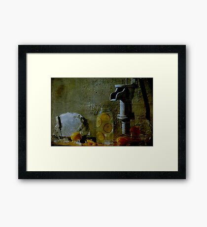 Orange Drink Framed Print