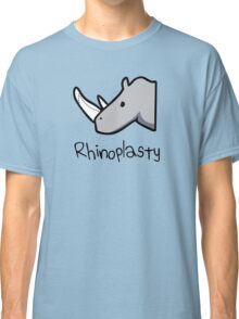 Rhinoplasty (text) Classic T-Shirt