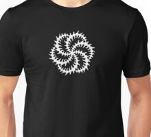 Double Six Sided Triskelion Crop Circle - White Unisex T-Shirt