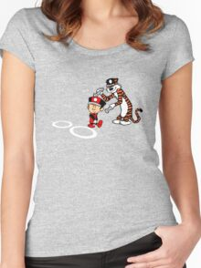 Calvin Scarlet Women's Fitted Scoop T-Shirt