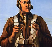 Tuskegee Airmen - Keep Us Flying - Buy War Bonds by Robert Partridge