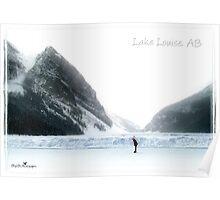 Lake Louise postcard Poster