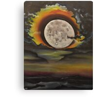 Birthday Moon -oil painting- alleyvision Canvas Print